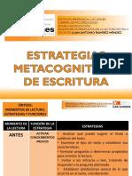 ESTRATEGIAS METACOGNITIVAS ESCRITURA