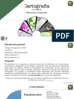Cartografía-Estructura y evaluación