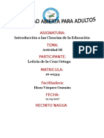 Actividad III Introduccion a La Ciencias de La Educacion