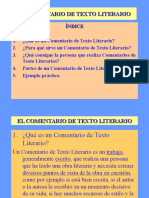 elcomentariodetextoliterario-110518130426-phpapp01.ppt