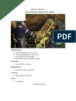 Informe Técnico de Extraccion Del Cobre en El PERU