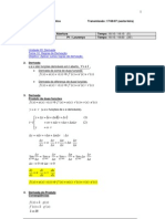 Matemática - Cálculo I - Aula07 Parte01
