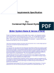 Sample URS for Isolator Following Flow Chart - User Requirements Specification