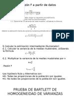 Cálculo de Razón F a Partir de Datos