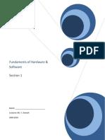Unit1FundamentalsofHardwareandSoftware20092010[1]