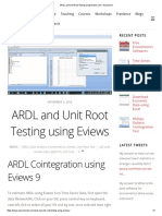 ARDL and Unit Root Testing Using Eviews _ an ' Economist