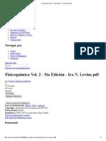 Fisicoquímica Vol. 2 - 5ta Edición - Ira N. Levine