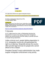 Lico Reyes - Immigration Report 11 May 2017 U.S. judge blocks federal move against immigration lawyers.pdf