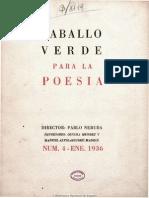 Revista Caballo Verde para la Poesía Nº 4 (1936)