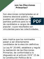 Qué Son Las Elecciones Primarias