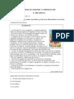PRUEBA DE LENGUAJE Y COMUNICACIÓN 4° 2017