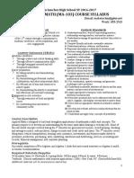 applied math syllabus 2016-2017