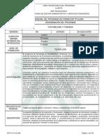 Infome Programa de Formación Titulada Version 100