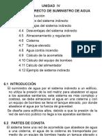 UNIDAD IV-Sistema Indirecto de Abastecimiento de Agua