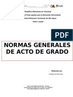 Normas Generales Para Acto de Grado Der La Universidad Politécnica Territorial Del Alto Apure