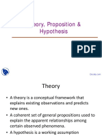 Theory Proposition and Hypothesis Research Methodology Lecture Slides