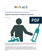 A Good New Law on Medical Services
