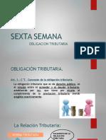 DERECHO TRIBUTARIO I (CÓDIGO TRIBUTARIO) -Semana 6 Obligacion Tributaria(1)