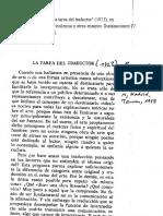 Walter Benjamin La Tarea Del Traductor