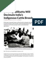Why Jallikattu & History