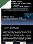 Influenza Vaccination of Pregnant Women