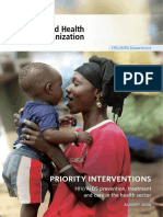 HIV Priority Interventions - WHO