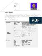 CV of Md. Rayhan