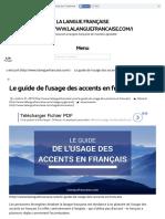Le Guide de l'Usage Des Accents en Français _ La Langue Française