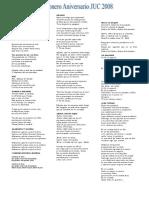 Cancionero Aniversario JUC 2008