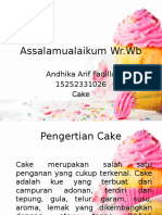 PPT Cake Andhika Arif Fadilla 15252331026