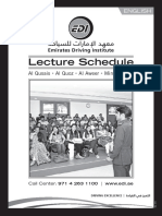 Lecture Schedule May 2017