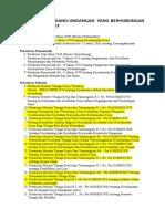 Daftar Per Undang undangan MFK