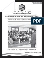 Ramadan-lecture Schedule May 2017