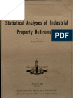 Statistical Analysis of Industrial Property Retirements (Engineering Experiment Station Bulletin 125, Revised)