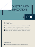 Process Optimization (Unconstrained Opt)