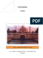 Doc Taj Mahal Site Management Plan 2001
