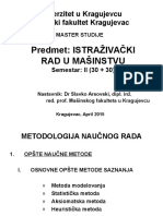Istrazivacki Rad u Masinstvu - V Predavanje