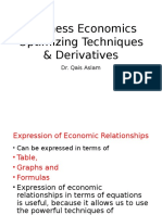 12 Business Economics Technques of Demand & Derivative Estimation
