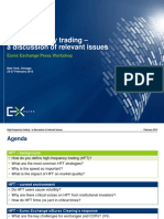 High-frequency trading – a discussion of relevant issues