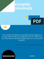 Percepția subliminală