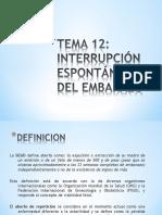 T-12.Interrupción Espontánea Del Embarazo