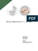 Projekt Logistyka Dystrybucji Bobowska Mańka Marszałek Piewko