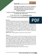 Seminario 4 Propuesta de Estrategia de Planificación Para Optimizar El Proceso de Producción de Azúcar de Caña en La Unidad Empresarial de Base Central Azucarero Paquito Rosales