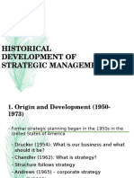 Edited History of Strategic Management
