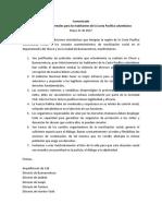 COMUNICADO PARO CHOCÓ Y BUENAVENTURA