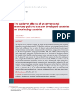 The Spillover Effects of Unconventional Monetary Policies in Major Developed Countries on Developing Countries