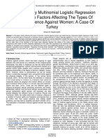 Examination by Multinomial Logistic Regression Model of the Factors Affecting the Types of Domestic Violence Against Women a Case of Turkey