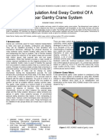 Position Regulation and Sway Control of a Nonlinear Gantry Crane System