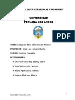 CODIGO DE ETICA DEL CONTADOR PUBLICO-RESUMEN