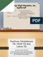 2. Dr. Bambang-update Panduan Tatalaksana Tb, Tb Mdr, Tb Laten